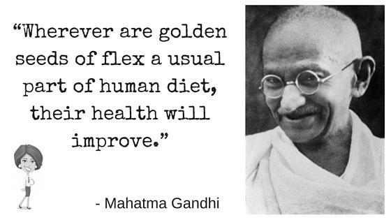 Mahatma Gandhi Flax Seed