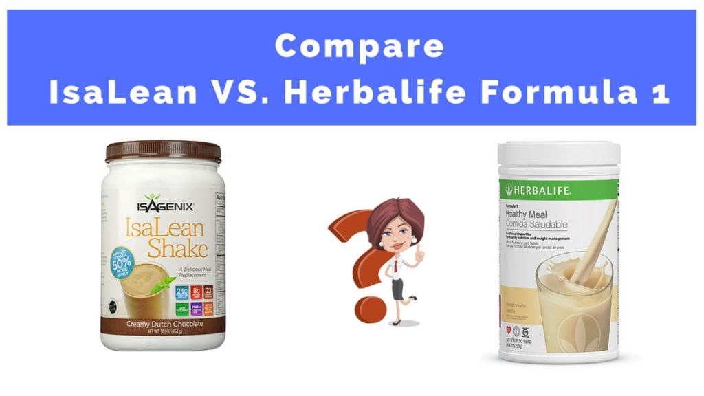 My Comparison: Isagenix Isalean Shake VS Herbalife Formula 1