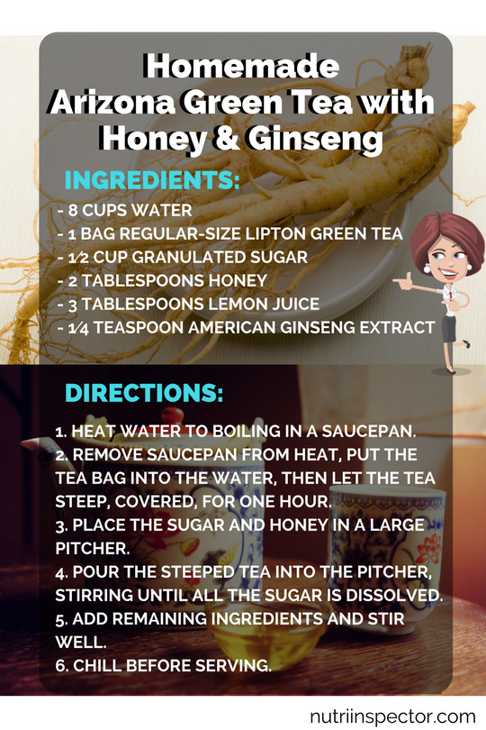 Homemade Green Tea With Ginseng And Honey