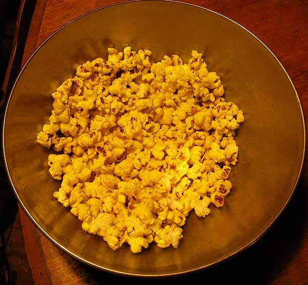 Popcorn With Turmeric