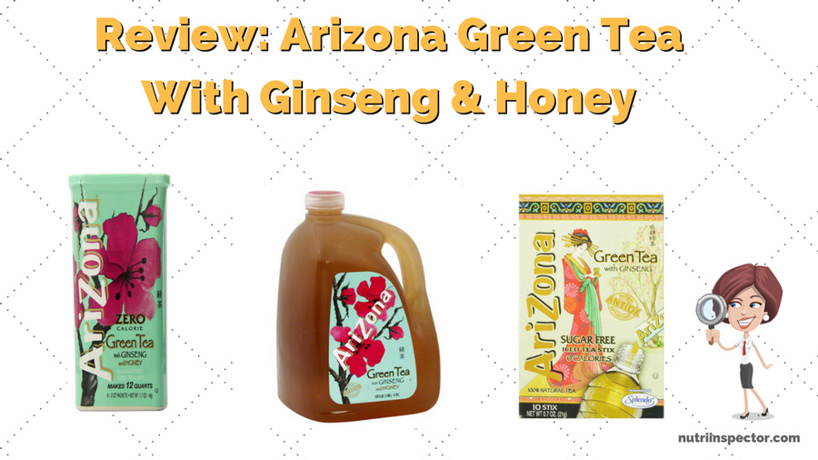 Review: Arizona Green Tea with Ginseng and Honey | Nutri ...