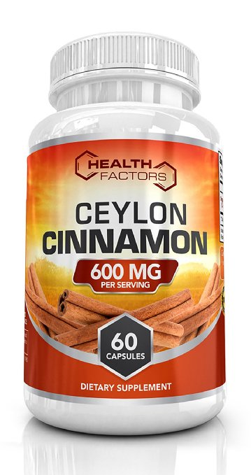 10 Organic Ceylon Cinnamon Capsules By Health Factor