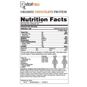 Idealraw Organic Protein Shake Ingredients