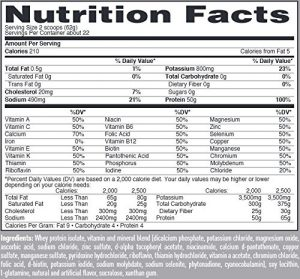Isopure Protein Powder Ingredients