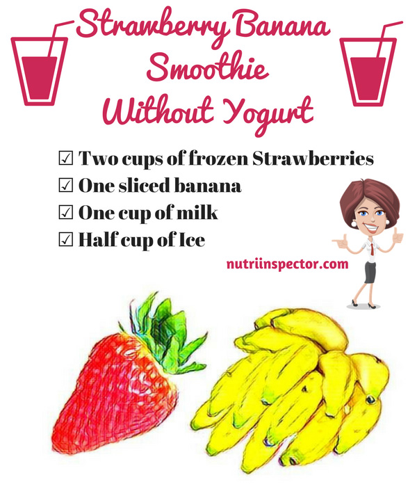 Strawberry Banana Smoothie Without Yogurt