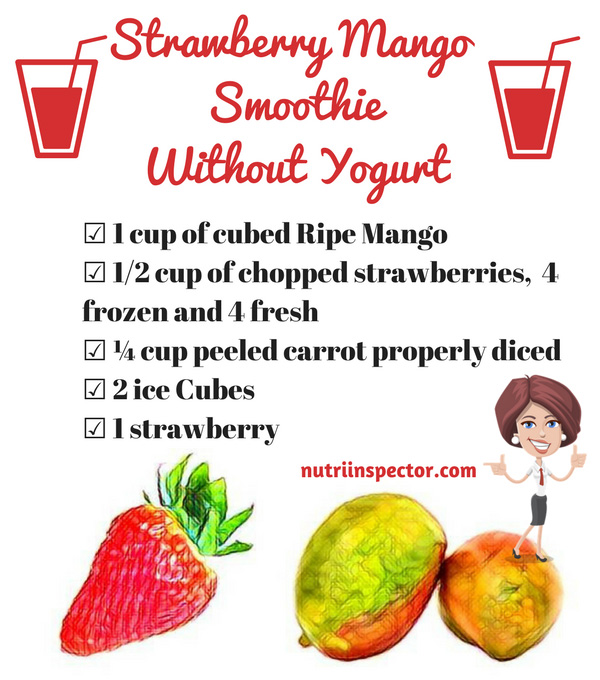 Strawberry Mango Smoothie Without Yogurt