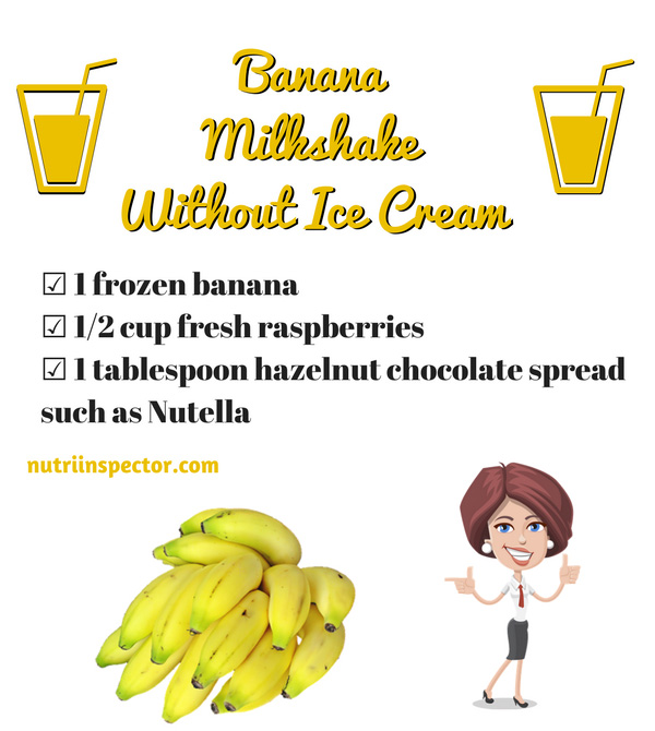 Banana Milkshake Without Ice Cream
