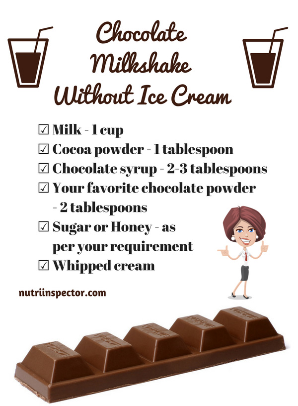 How To Make Chocolate Shake Without Ice Cream