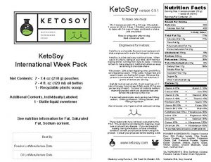 Ketosoy Meal Replacement Shake Ingredients