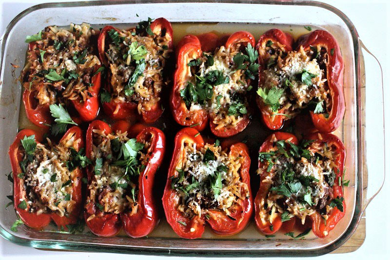 Spicy Rice Stuffed Bell Peppers 1