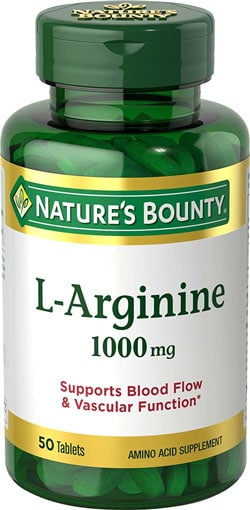 Natures Bounty L Arginine Anti Inflammatory Supplements For Interstitial Cystitis