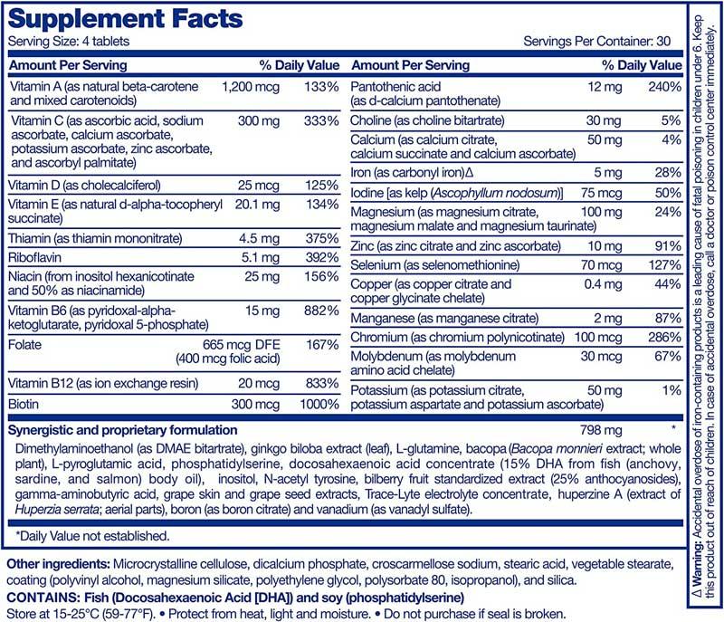Focus Vitamin Supplement Ingredients